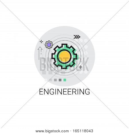Engineering Cog Wheel Mechanical Detail Part Icon Vector Illustration