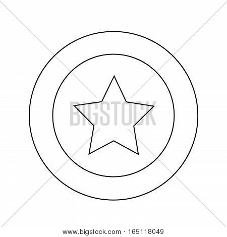 an images of Or pictogram star icon illustration design