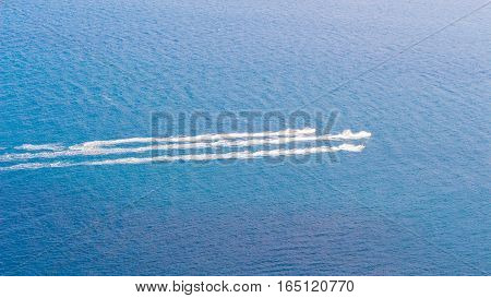 Speedboat Cruising Over Tne Sea