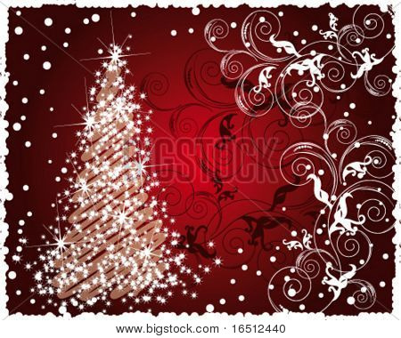 Vector Christmas pattern (Raster version 26692858)