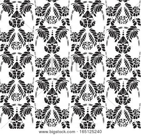 Vintage pattern background. Vector floral antique decor texture