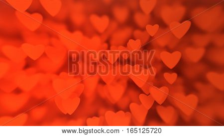 Valentine's Day Background From Huge Amount Of Red Hearts