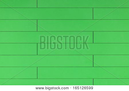 High Resolution Green Plastic Wall Background With Brick Form