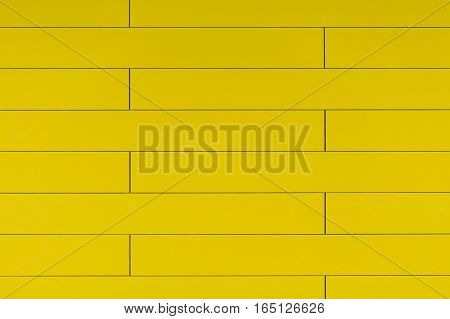 High Resolution Yellow Plastic Wall Background With Brick Form