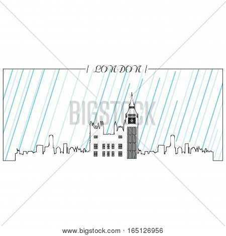 Isolated abstract skyline of London, Vector illustration