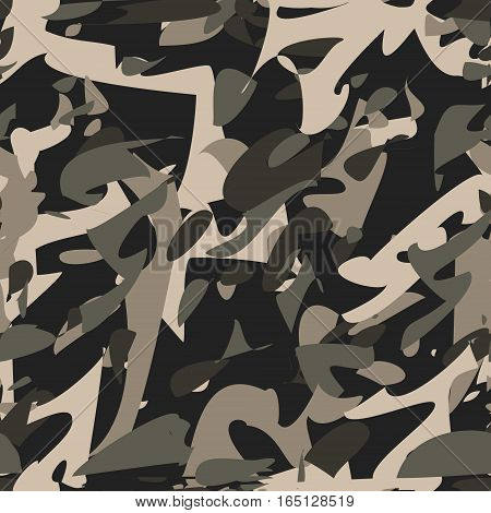 Camouflage pattern. Military khaki seamless vector pattern wallpaper