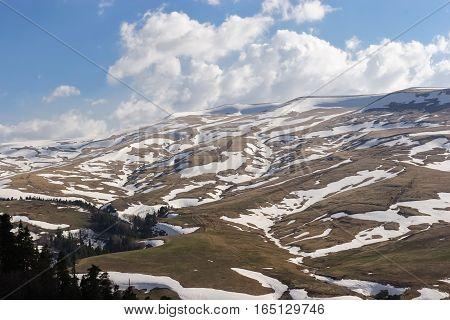 Spring on the Lago-Naki plateau, Russia Caucasus 2015