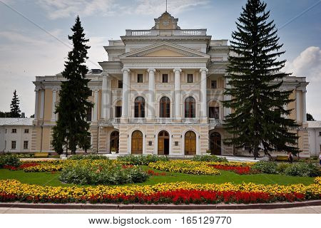 Central part of an ancient noble mansion. Estate Maryino, Kursk region