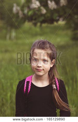 Girl Portrait On The Meadow