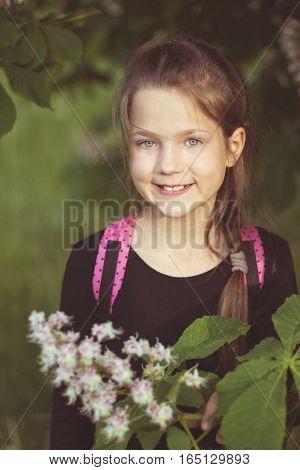 Smiling Girl Springtime
