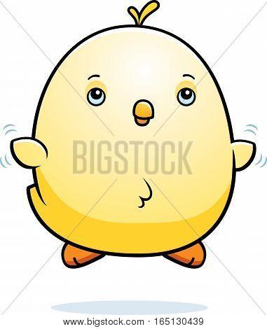 Cartoon Baby Chicken Fly