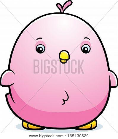 Cartoon Baby Pink Parakeet