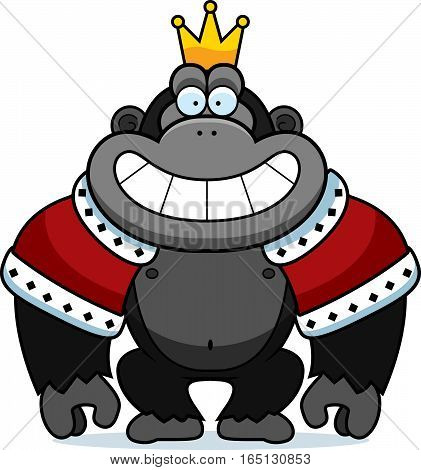 Cartoon Gorilla King