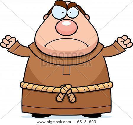 Cartoon Monk Angry