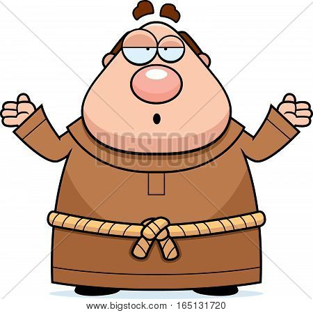 Cartoon Monk Confused