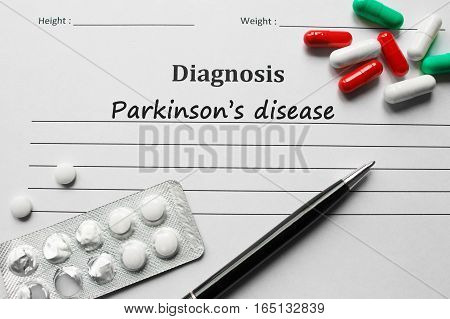 Parkinson's Disease On The Diagnosis List, Medical Concept
