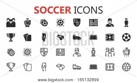 Simple modern set of soccer icons. eps 10