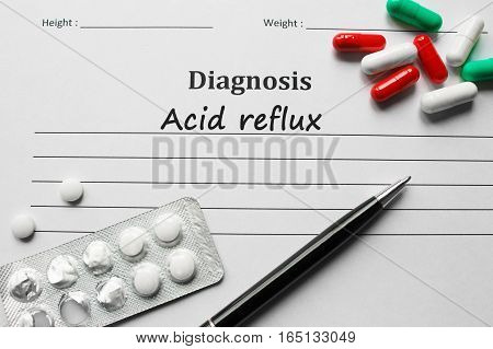 Acid Reflux On The Diagnosis List, Medical Concept