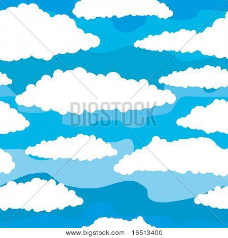 Raster  Seamless background of sky and clouds   (Vector version     25299796)
