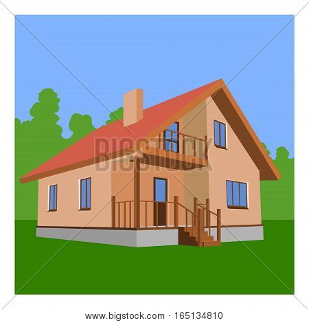 House. The file have two layers: House and nature