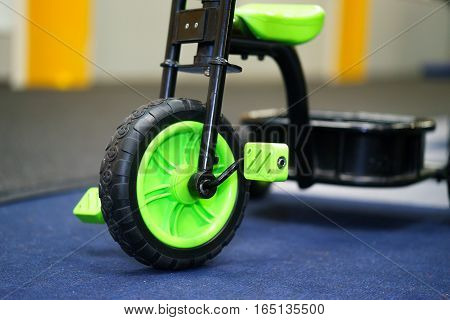 children's bicycle three wheeled. isolated on cover