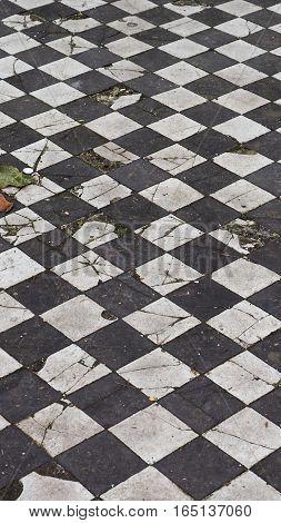 Checkered Floor Texture Background - Vertical