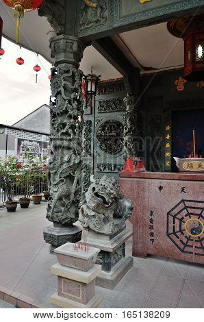 George Town/Malaysia - September 2012: Yap temple in George Town Penang Malaysia