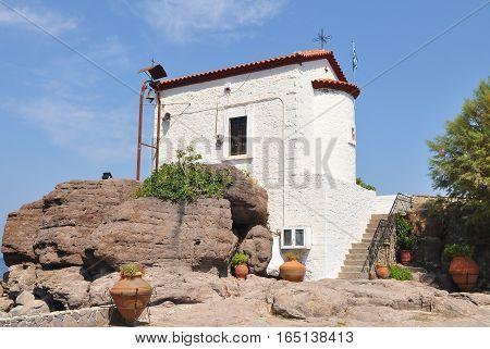 Panagia Gorgona church on island Lesbos in Greece