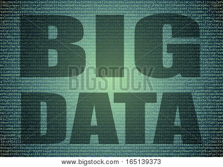 Big Data Extraction Over A Background Of Letters And Numbers