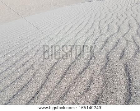 Sand ripples at MeSquite Flat dunes in Death Valley National Park