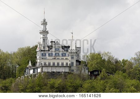 LUCERNE SWITZERLAND - MAY 04 2016: Gutsch castle that houses hotel and restaurant with its unique architecture and its location makes it one of the tourist attractions.