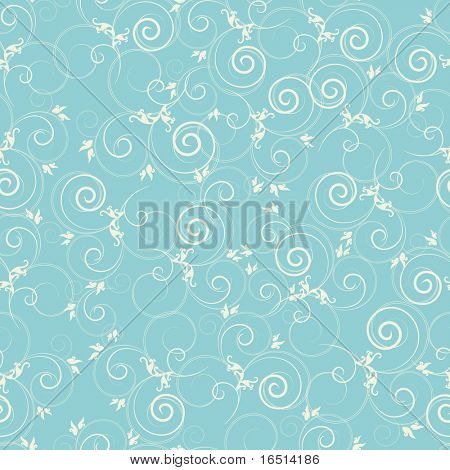 Seamless fashionable background with flower curls. (version vector 27734869)