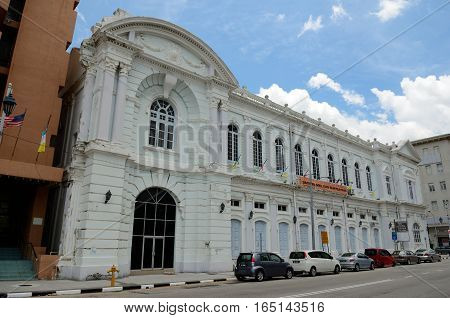 George Town/Malaysia - September 2012: Buildings in colonial style in George Town Penang Malaysia