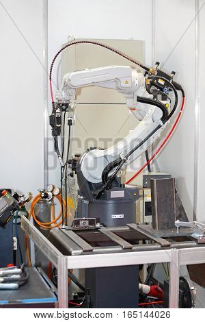 Programmable Robotic Arm For Welding Parts in Factory