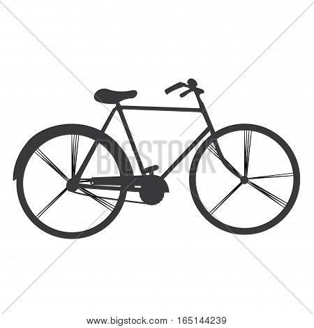 Isolated retro bicycle on a white background, Vector illustration