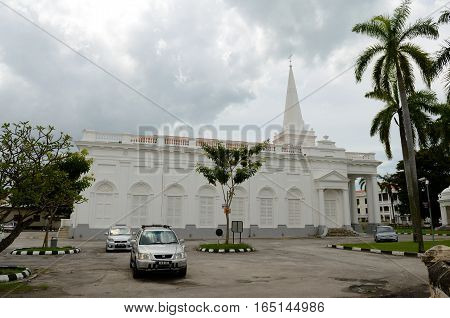 George Town/Malaysia - September 2012: St. George`s Church in George Town Penang Malaysia