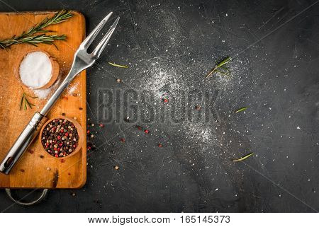 Kitchen Table, Prepared For Cooking Meat