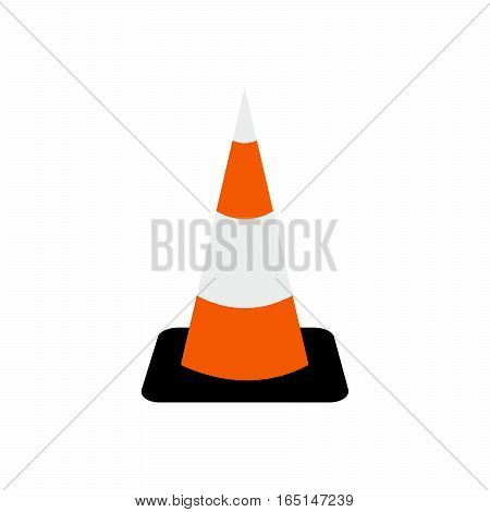Traffic cone symbol vector design isolated on white background