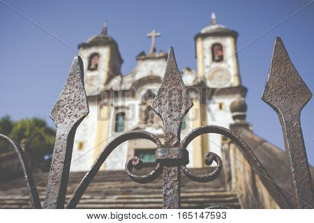 View Of The Igreja De Sao Francisco De Assis Of The Unesco World Heritage City Of Ouro Preto In Mina