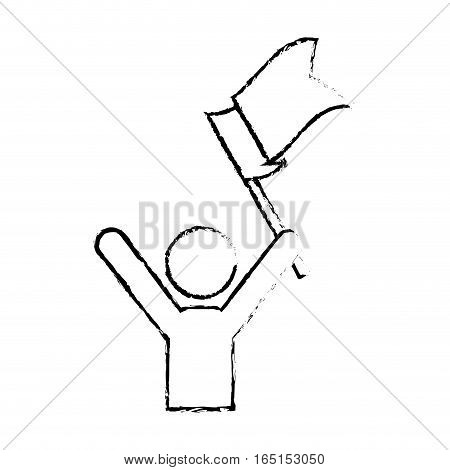Success man pictrogram icon vector illustration graphic design