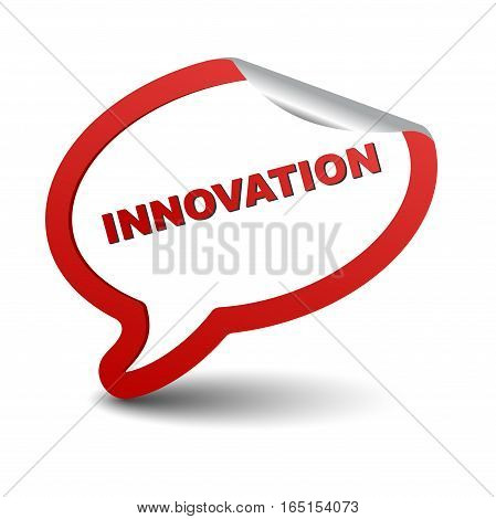 This is red vector element bubble innovation