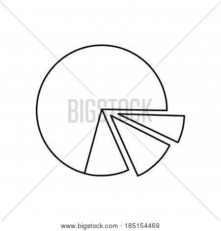 statistics pie chart icon vector illustration graphic design