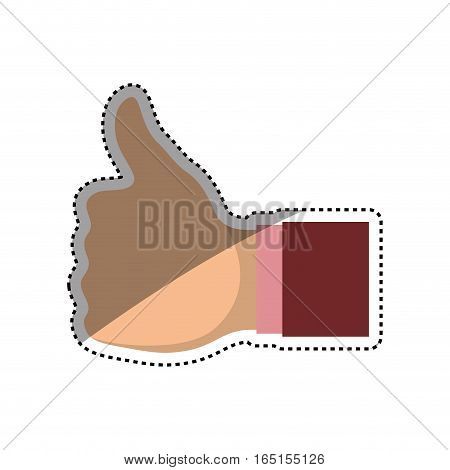 hand like thumb up icon vector illustration graphic design
