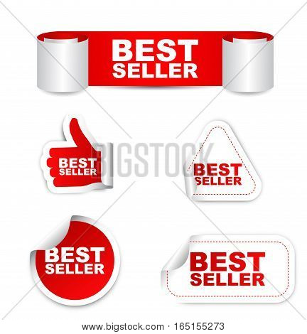 This is red set vector paper stickers best seller