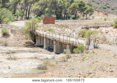 A bridge in Fauresmith a small town in the Free State province of South Africa