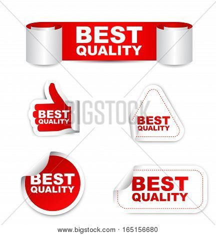 This is red set vector paper stickers best quality
