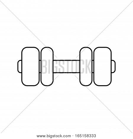 Gym weight dumbbell icon vector illustration graphic design