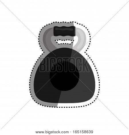 Gym weight dual grip icon vector illustration graphic design