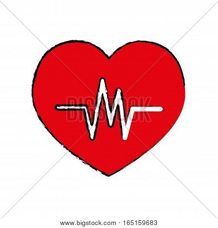 Heartbeat medical healthcare icon vector illustration graphic design