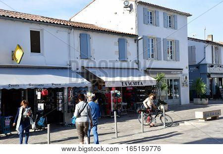 La Couarde sur Mer France - september 26 2016 : the picturesque village in autumn